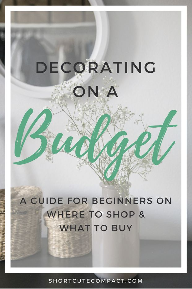 A beginners guide for on decorating and decor on a budget - where to shop and what to buy.