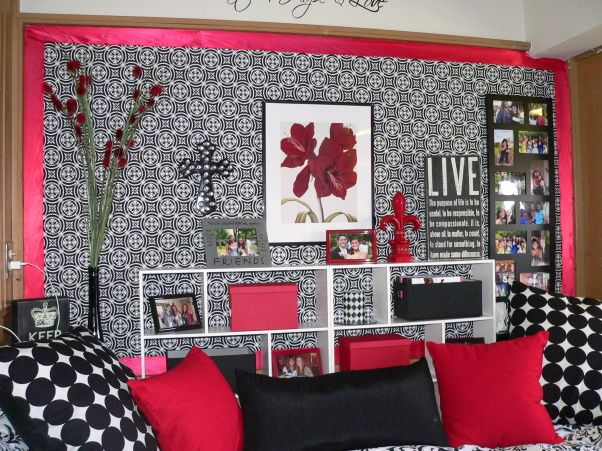 Texas Tech Dorm Room, This Is A Small Non Moveable Furniture Area Decorated  With Part 91
