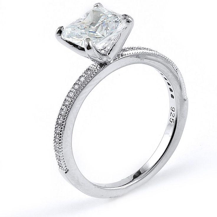 10 best Princess Cut Wedding Rings images on Pinterest