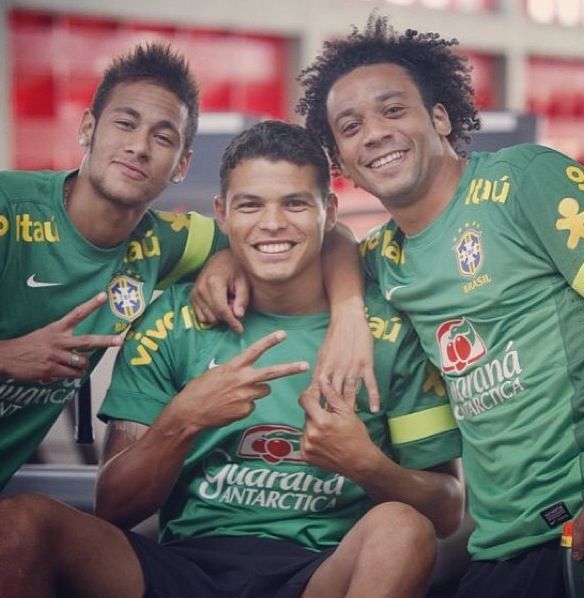 Marcelo, Neymar and Thiago Silva  Brazil national football team