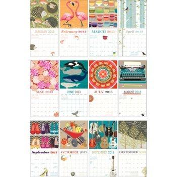 Fun calendar from the Paper Source, 2013 Paper Source Art Grid Calendar
