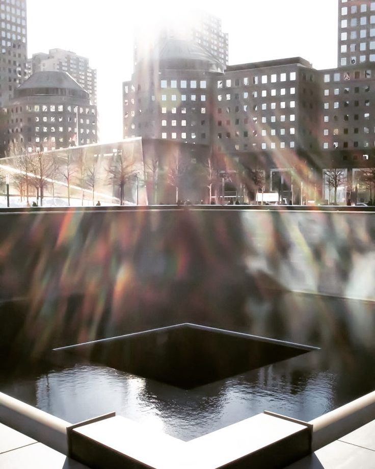 Ground zero only adjustments are structure and contrast #unedited#nyc#newyorkcity#newyork #landmark #911 #nineeleven #ninelevenmemorial #water #city #architecture