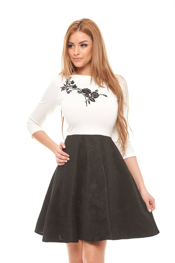 Starshiners modern embroidery black dress arrivals