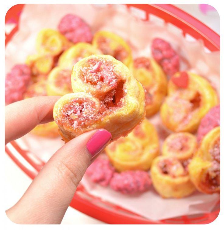 coeurs-feuilletes-praline-rose-creme-patissiere-recette Saint Valentine's day treats