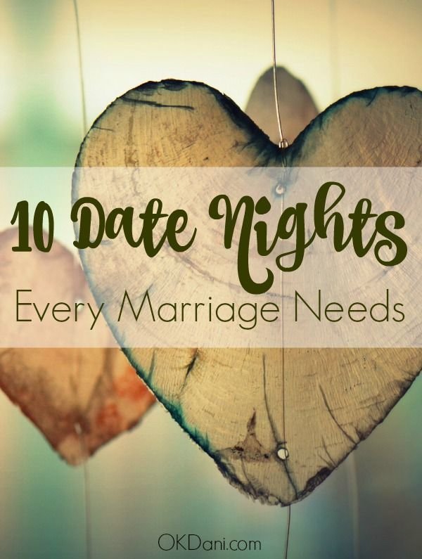 Date night ideas to spice up your marriage. Every relationship needs these types…