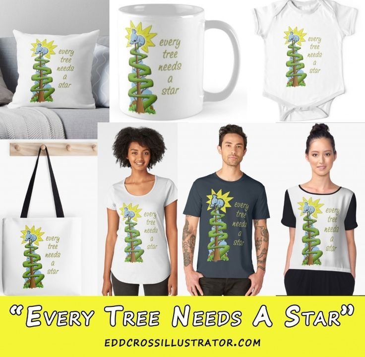 """You have seen the cute Christmas card featuring my adorable little koala character and now here is a selection of gifts and merchandise featuring this years Christmas design - """"Every Tree Needs A Star""""."""