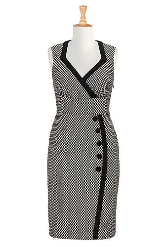 I <3 this Side button wool blend dress from eShakti