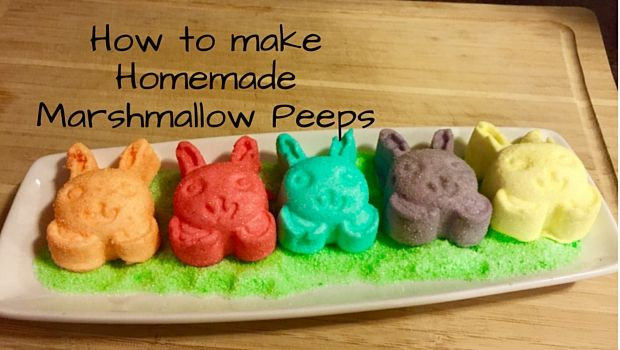 How to make Homemade Marshmallow Peeps. Easy and delicious. You will be making these all the time.