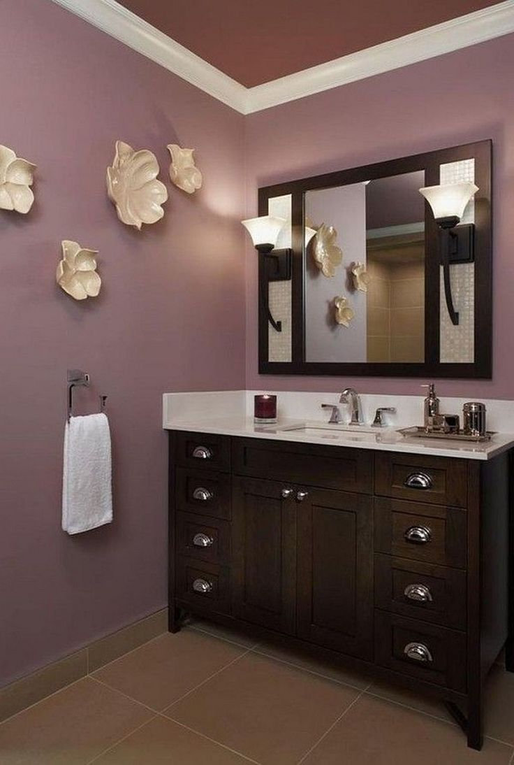 20 Marvelous Bathroom Picture And Wall Art Decor Ideas Paint Colors Painting Bathroom Bathroom Pictures Purple Bathrooms