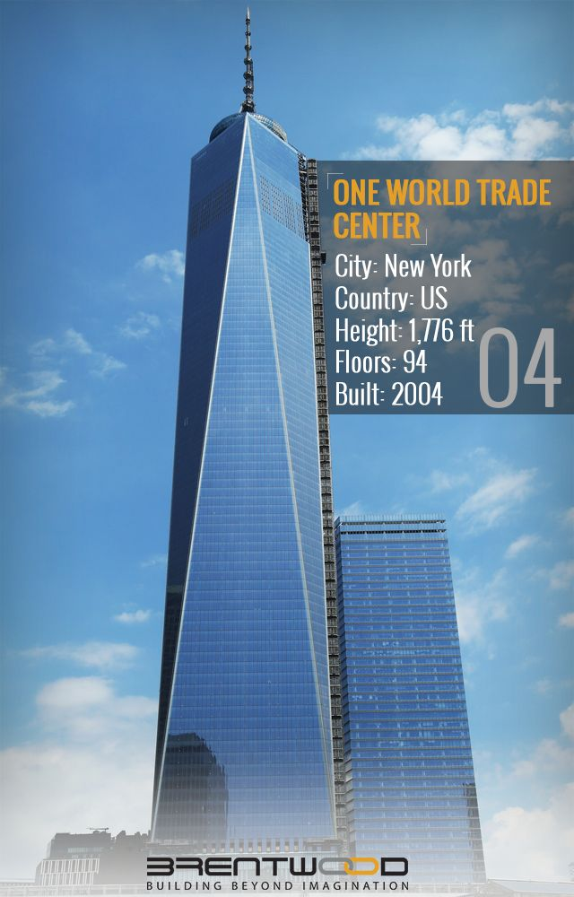 ONE WORLD TRADE CENTER:   At 1,776 feet tall, One World Trade Center sets new standards of design, construction, and prestige, and heralds the renaissance of Downtown Manhattan, New York. Managed. It is the new icon of New York's skyline and the most recognized and desirable office address in the world