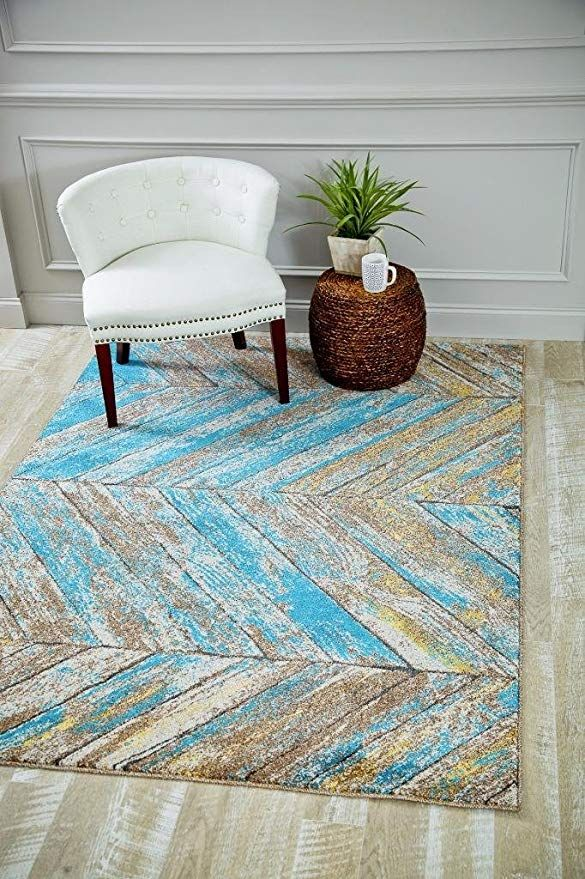 Turquoise Trellis 5 2x7 2 Area Rug Carpet Large New Kitchen