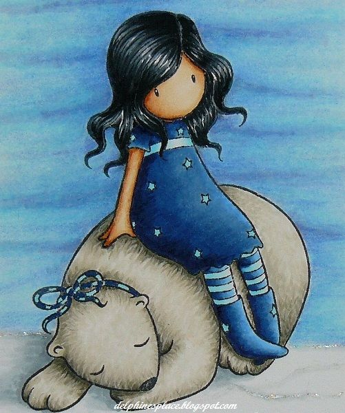 Copics used for the fur: E40, W0, 1, 3, 5  Copics used for the dress: B32, 34, 37, 39, BG01, 000