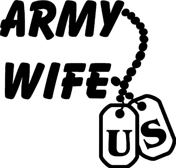 Army Wife With Dog Tags Vinyl Decal Car Truck Laptop