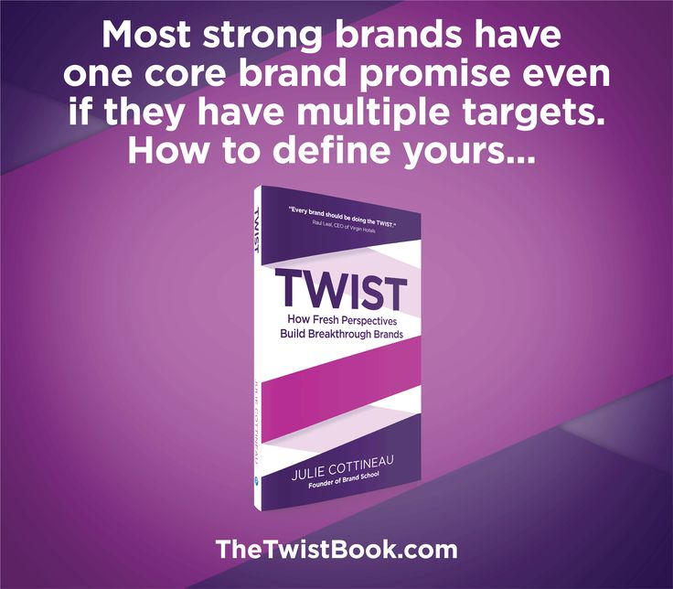 It can be really difficult to pick only one target if your business relies on distinct target groups... but you can find common ground to create your brand's underlying core promise... more in TheTwistBook.com