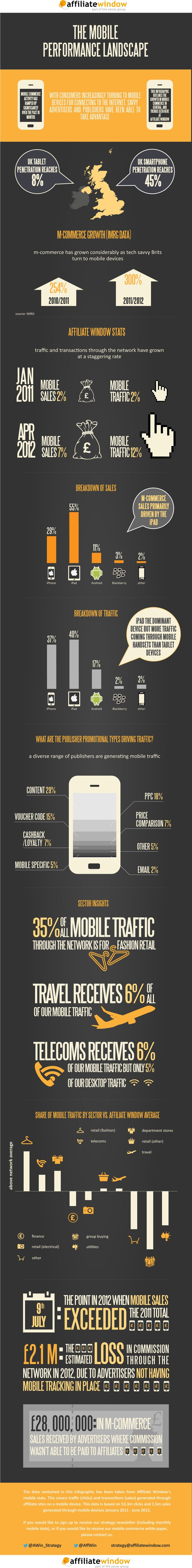 """55% of mobile commerce sales driven by the iPad [infographic] 