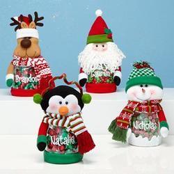 Personalized Plush Winter Holiday Treat Jars $12.99 #pintowinGifts & @giftsdotcom