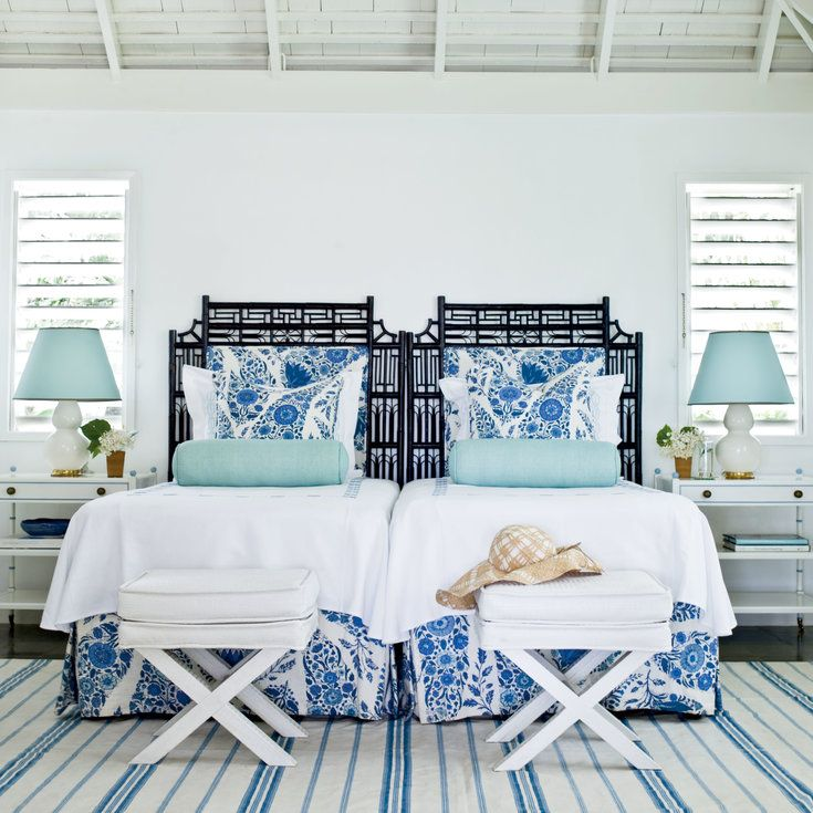 13 gorgeous island bedrooms blue white - Blue And White Bedroom Designs
