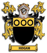 "Hogan Family Crest  The Irish surname Hogan is among the top 100 names in Ireland and is predominantly found in counties Tipperary, Cork and Limerick. The name Hogan is an anglicized form of Gaelic Ó hÓgáin  meaning ""descendant of Ógán"",  a personal name from a diminutive of óg  meaning ""young or young warrior."" Some bearers of the name Hogan claim descent from an uncle of Brian Boru, the last High King of Ireland."