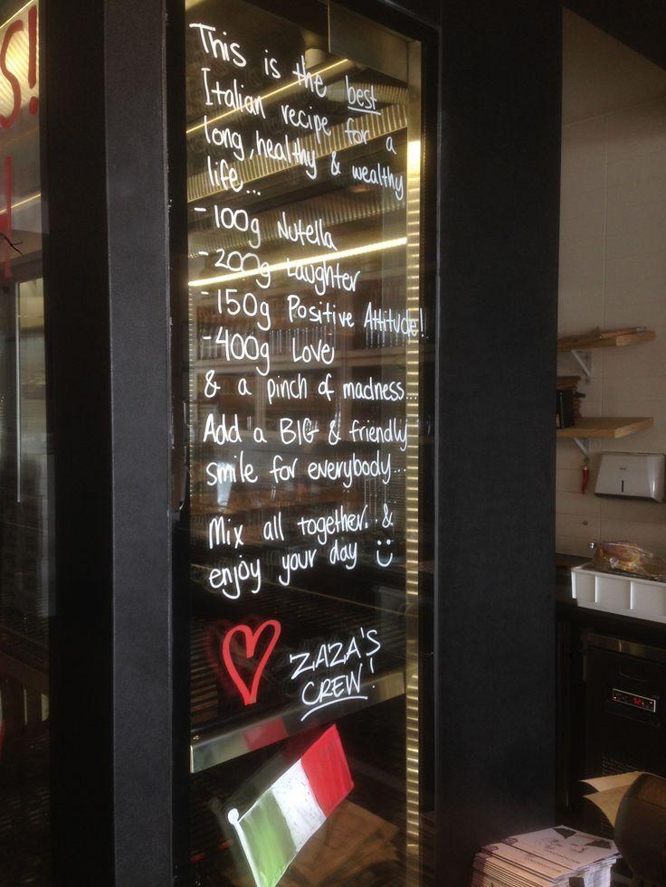 The Italian way of life! #ZaZa's