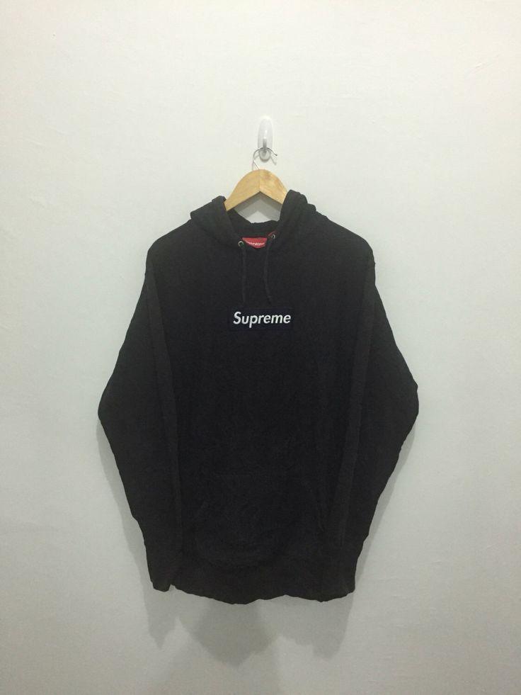 "SUPREME BOX LOGO Made in Canada Hoodie Sweatshirt Sweater armpit 23.5""Rare Hip Hop Rap Bathing Ape Nigo Pharell William Kanye West Bow Wow by FOREVERANARCHY on Etsy https://www.etsy.com/listing/477063851/supreme-box-logo-made-in-canada-hoodie"