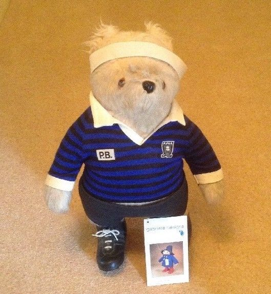 Gabrielle Paddington Bear In Rugby Kit With Sweat Band - Prop - Shirt Numbered 1