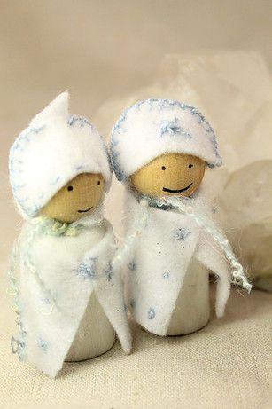 Winter peg gnomes.