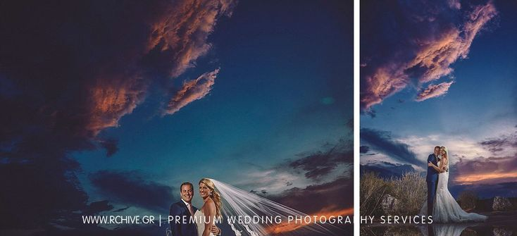 A day after wedding photography in Athens Greece. We love light and we always use it to balance a lovely couple's portrait with a sky that reminds of a painting.