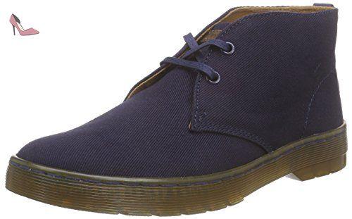 Dr. Martens  MAYPORT Twill Canvas NAVY, Bottes Desert courtes, non doublées homme - Bleu - Bleu marine, 40 - Chaussures dr martens (*Partner-Link)