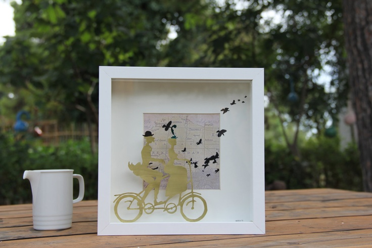 cycling the world together. €90.00, via Etsy.