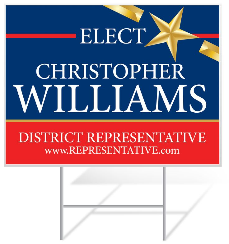 Political Yard Signs from Banners.com #yardsigns #elections
