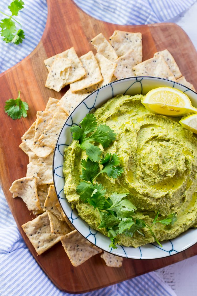 Creamy Hummus with Curry and Cilantro