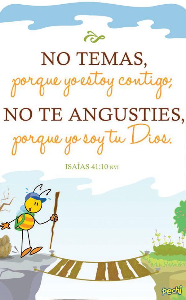 Dios esta junto a ti. No temas y pídele sabiduría. <3