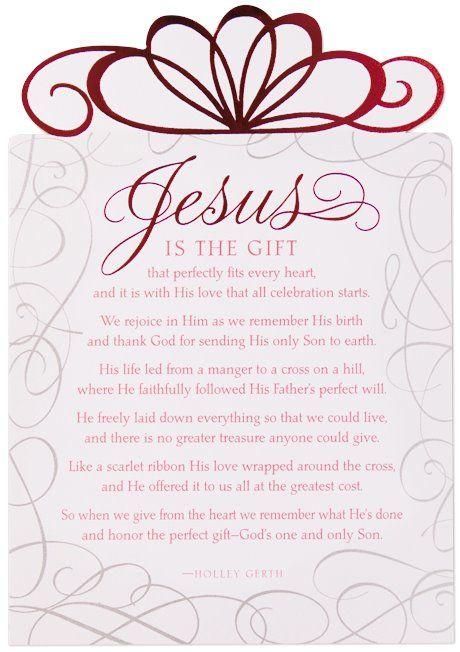 Jesus is the gift! | CHRISTMAS | Christmas poems ...