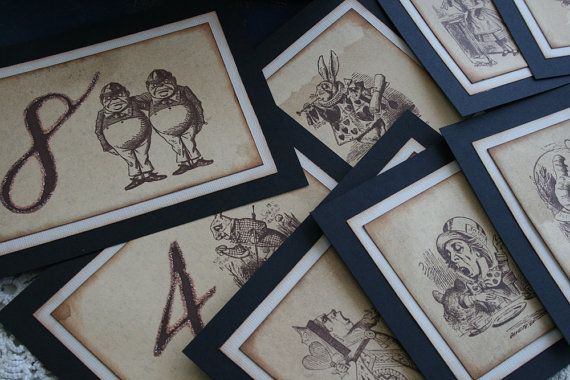 Alice in Wonderland Table Numbers!!! OMG, if only I were getting married right now...... these would be mine!: Wedding Tables, Table Decor, Wonderland Wedding, Hand Made Table, Wedding Ideas, Wedding Stuff, Alice In Wonderland, Wedding Table Numbers
