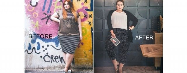 Plus size fashion makeover for a Romanian beauty blogger