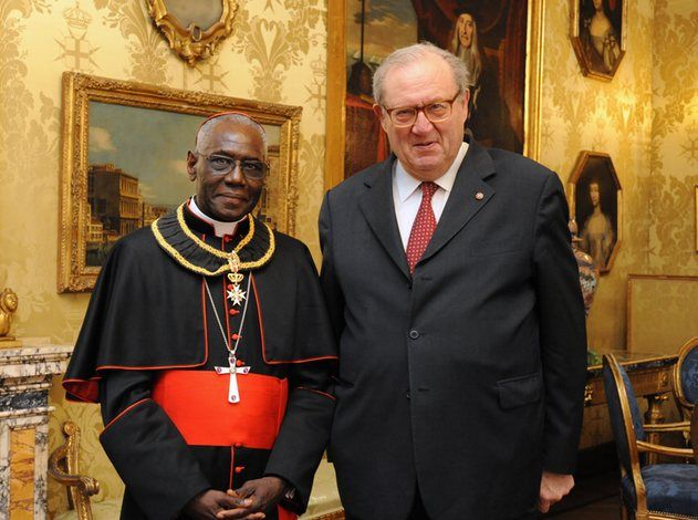 Cardinal Sarah admitted to Order of Malta with the rank of Bailiff Knight Grand Cross of Honour and Devotion