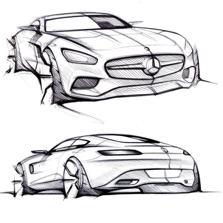 Mercedes-AMG GT - Design Sketches