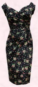 Cute 40s Bette Davis Inspired Dress. Love it! I could've worn something like this to history club's USO dance!