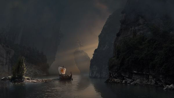 Different Matte Paintings by Aleksei Segodin, via Behance