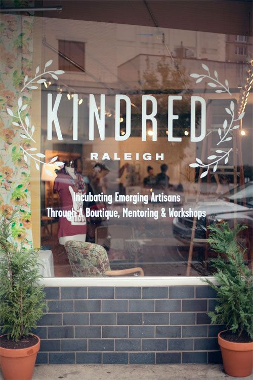 Kindred logo -The Dapper Paper Co. | window application | Raleigh, NC