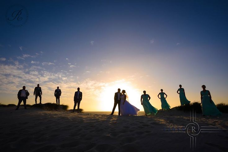 Bridal Party at the beach