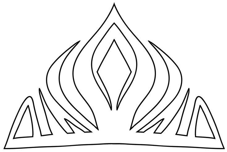 Elsa Crown Downloadable Template