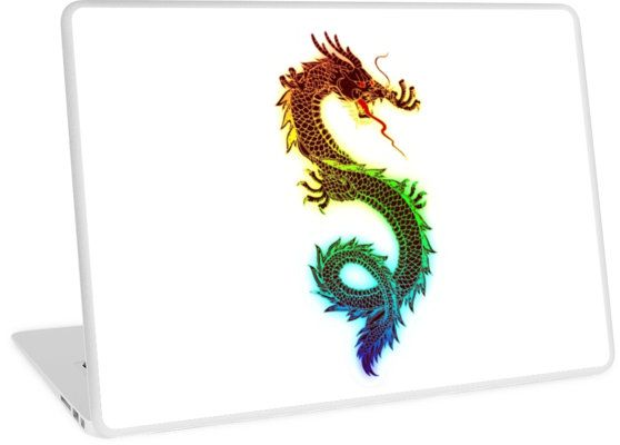 Rainbow Chinese Dragon Illustration (DBZ, Ancient, Mythical)
