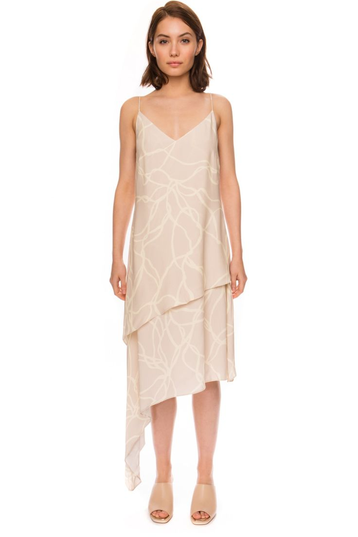 C/MEO COLLECTIVE OTHER ONE DRESS OYSTER LINE - BNKR