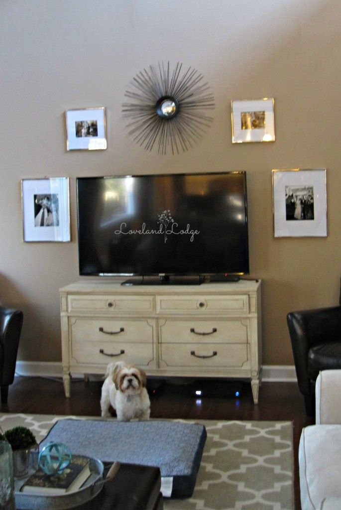 Living Room Winter Decor Updates Big Screen TvScreens