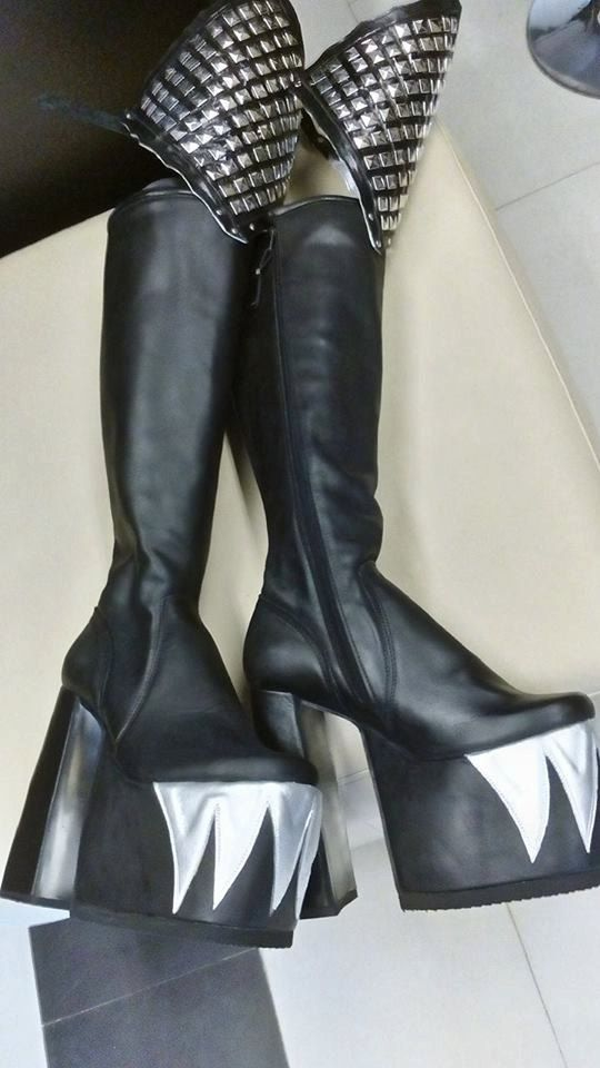 a45e49bc744 Gene Simmons inspired Boots from the Rock the Nation Tour / Custom ...