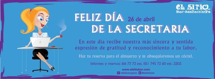 Celebramos el día de la secretaria :) este viernes 26 de abril.