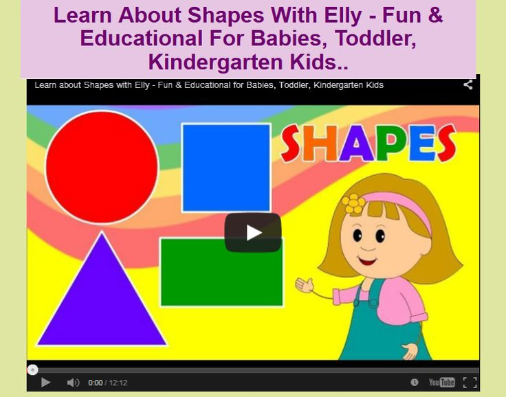 Learn About Shapes With Elly - Fun & Educational For Babies, Toddler, Kindergarten Kids..