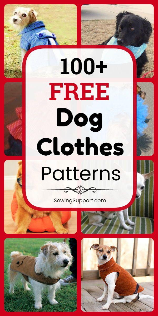 100 Free Dog Clothes Patterns Dog Clothes Patterns Dog Coat