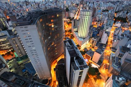 """Sao Paulo, """"A sea of skyscrapers on a backdrop of mountainous horizons."""" is the largest city in the whole of South America and Brazil's biggest business centre."""